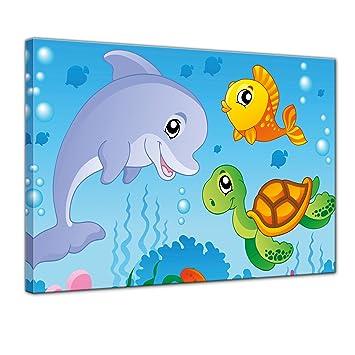 Bilderdepot24 Kunstdruck - Kinderbild Unterwasser Tiere III - Bild ...