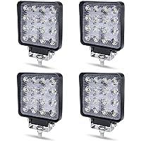 Werklamp LED 12V Aufun 48W Offroad reflector schijnwerper extra schijnwerper 4320lm, schijnwerper IP67 waterdicht voor…