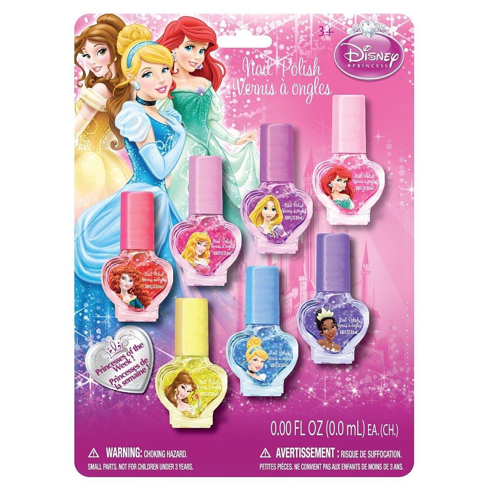 Amazon.com: Disney Princess - 7 Pack Multicolor Nail Polish Set ...
