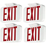 LIT-PaTH LED Emergency EXIT Sign with Double Face and Back Up Batteries- US Standard Red Letter Exit Lighting, UL 924…