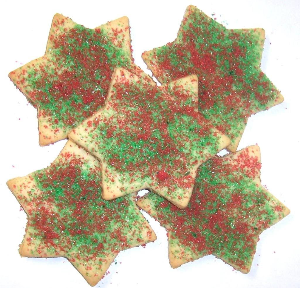 Scott S Cakes Red And Green Christmas Star Cookies 1 Lb Box