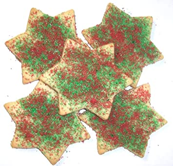 scotts cakes red and green christmas star cookies 1 lb