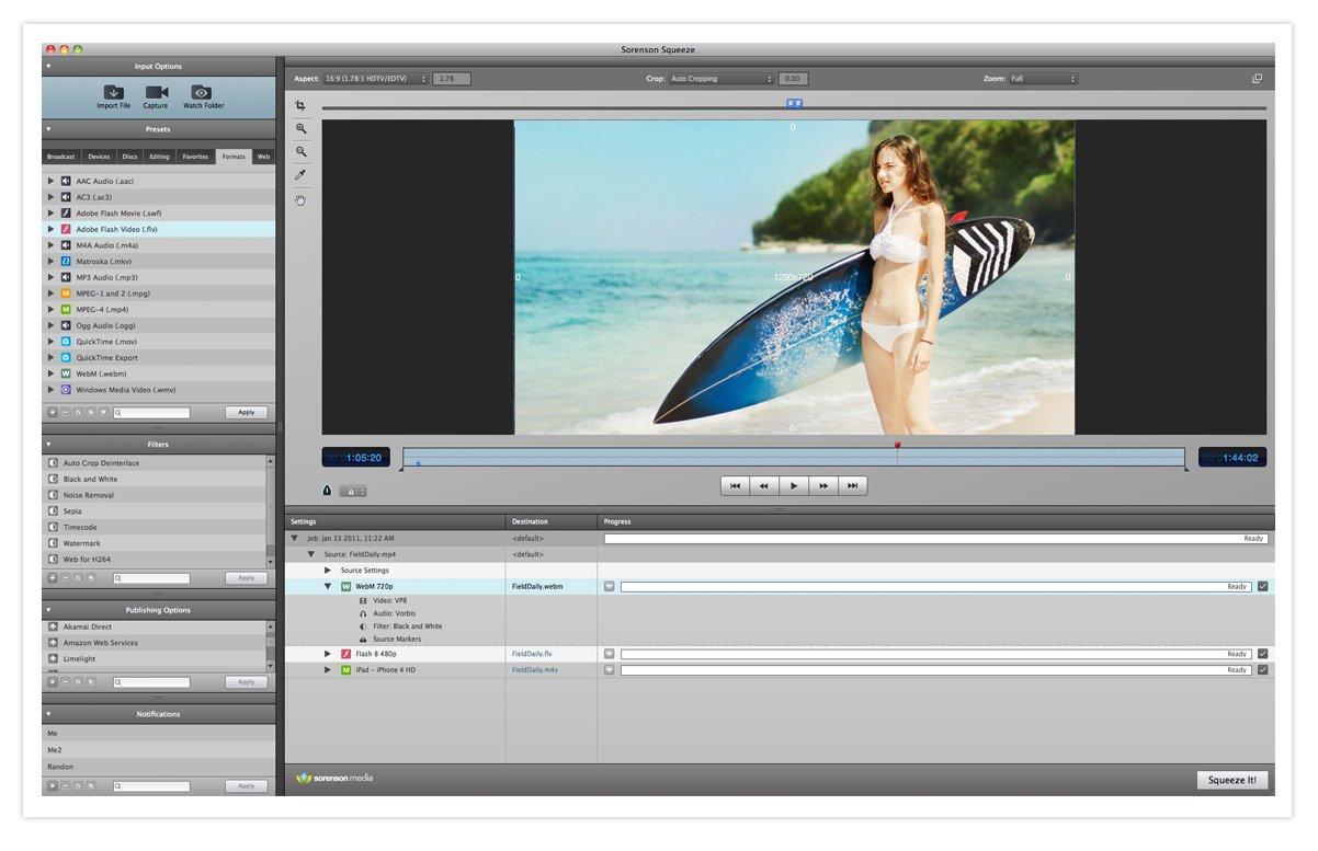 Sorenson Squeeze 7 for Mac [Download] by Sorenson Media Digital Software