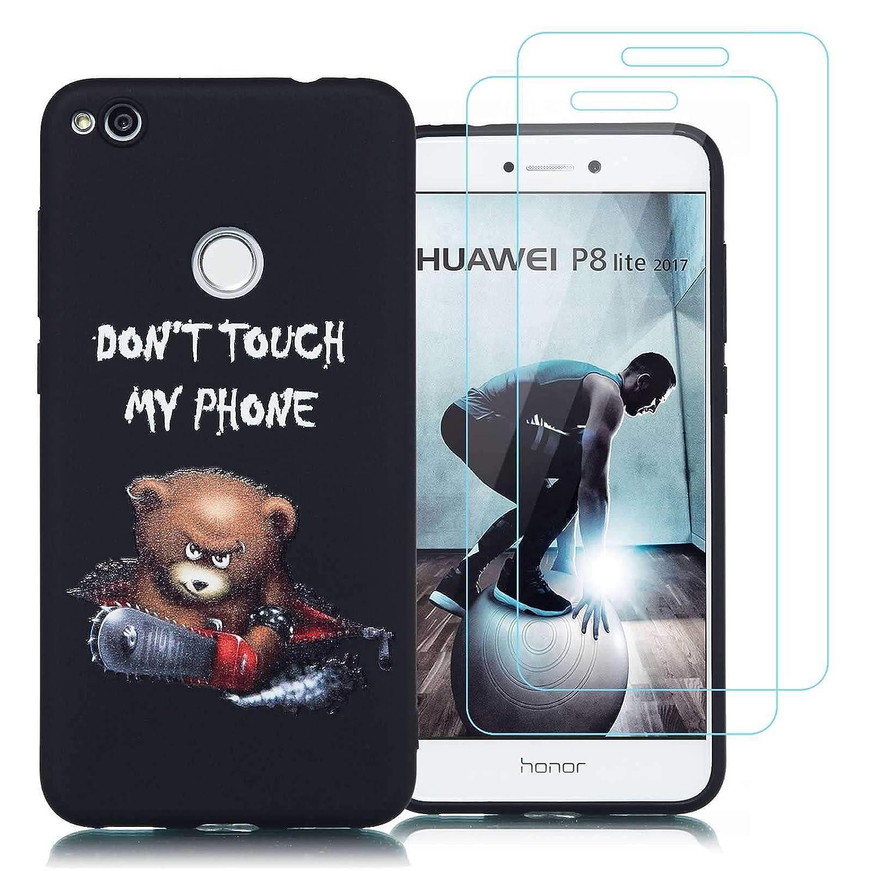 jrester Funda Huawei P8 Lite 2017,Oso de la Motosierra Suavee ...