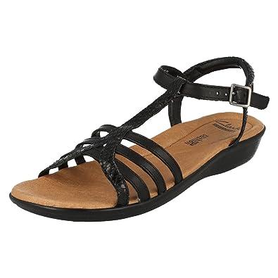 e61670f80e6b Clarks Ladies Sandals Manilla Porta - Black Leather - UK Size 3.5D - EU Size