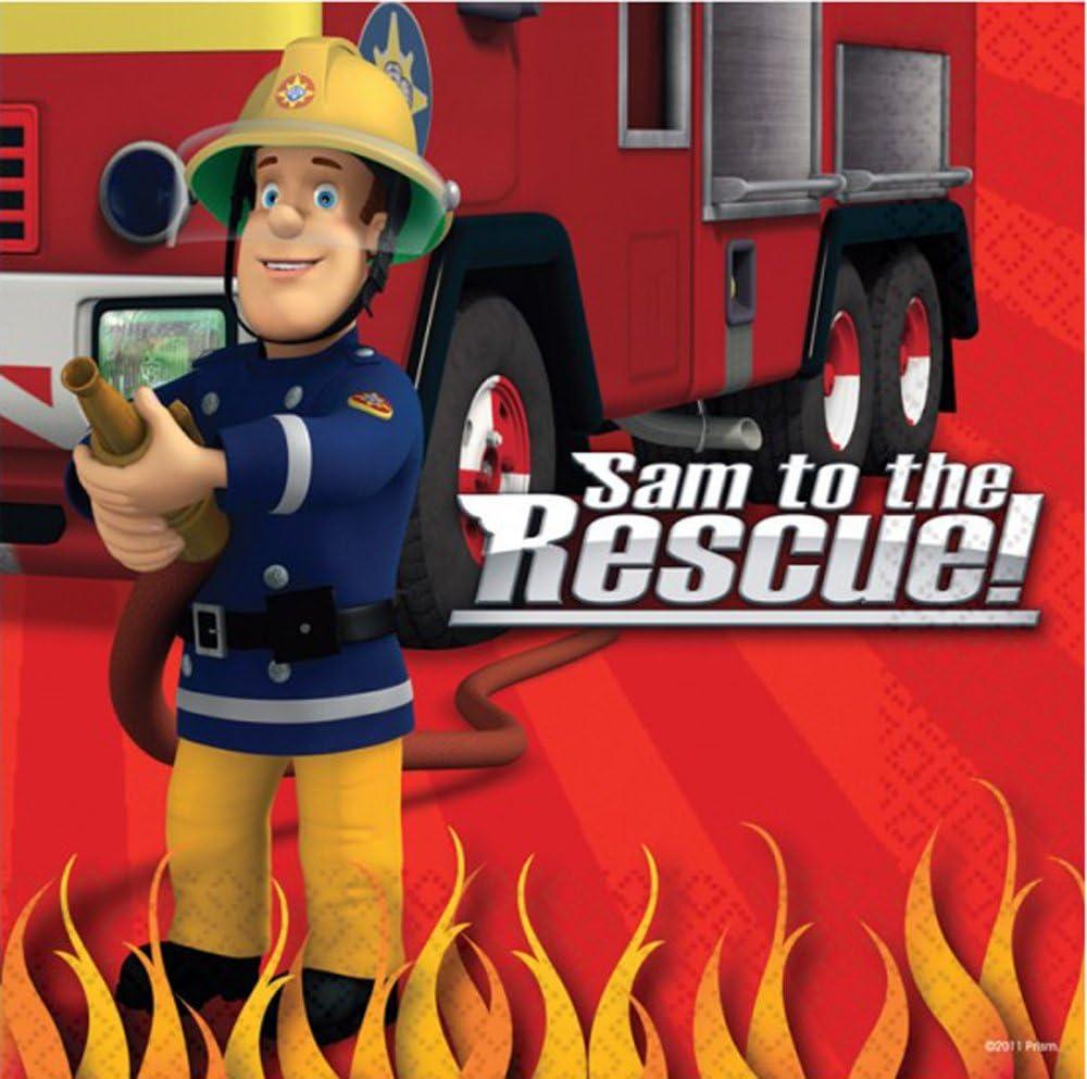 Amazon.com: Sam el bombero fiesta de cumpleaños servilletas ...