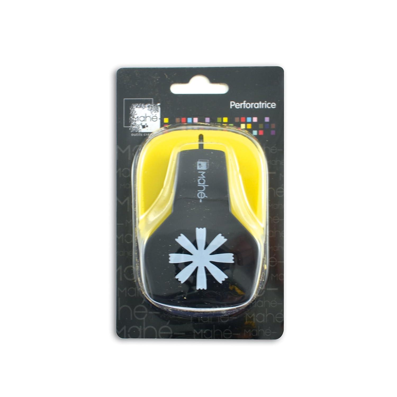 Toga OPXC12 Perforatrice moyenne motif Fleur Plastique Noir 9 x 14, 5 x 7 cm