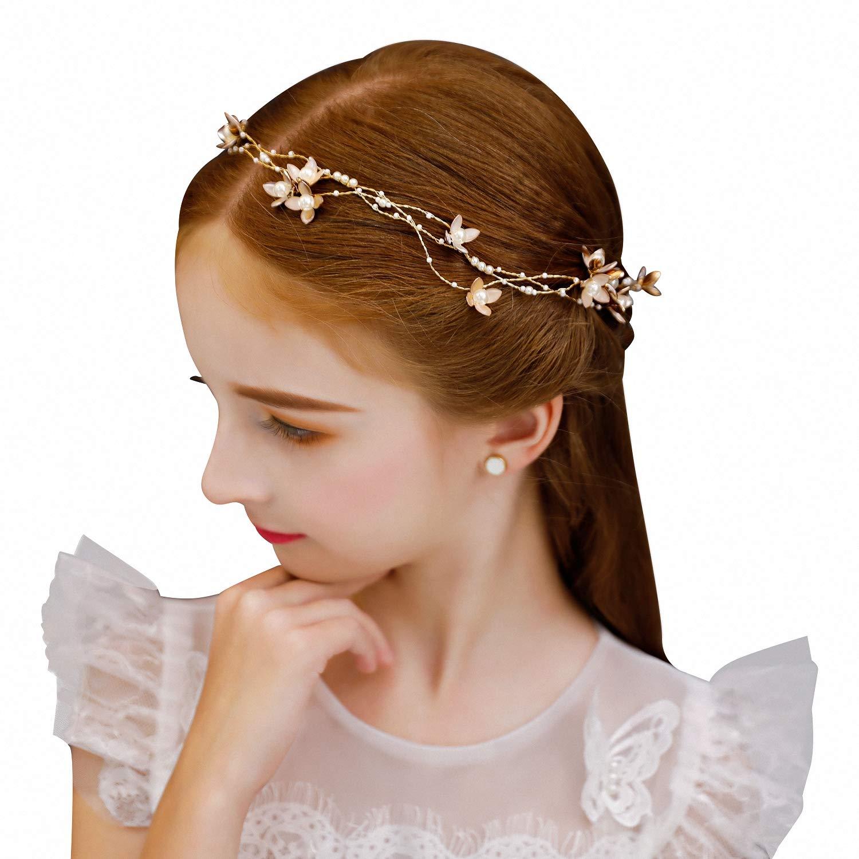 Amazon.com  70ILY Flower Girls Tiara Full Cubic Zircon Hair Crown Children  Party Pageant Headpieces Silver  Beauty c1c508b77683