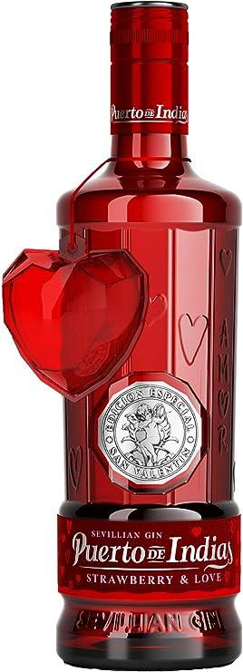 Edición Limitada - Gin Puerto de Indias Strawberry 70cl - Ginebra rosa de fresas naturales