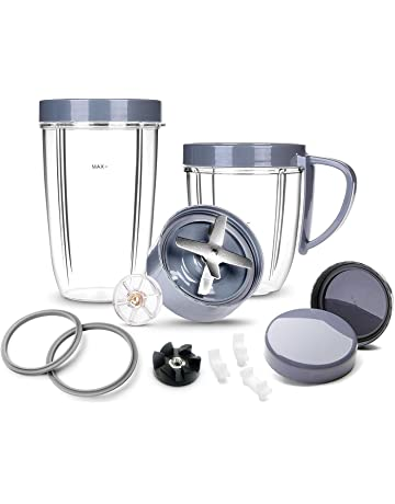 Deluxe Upgraded Accessory Kit for NutriBullet, Cups & Blade & Resealable Lid & Gasket &