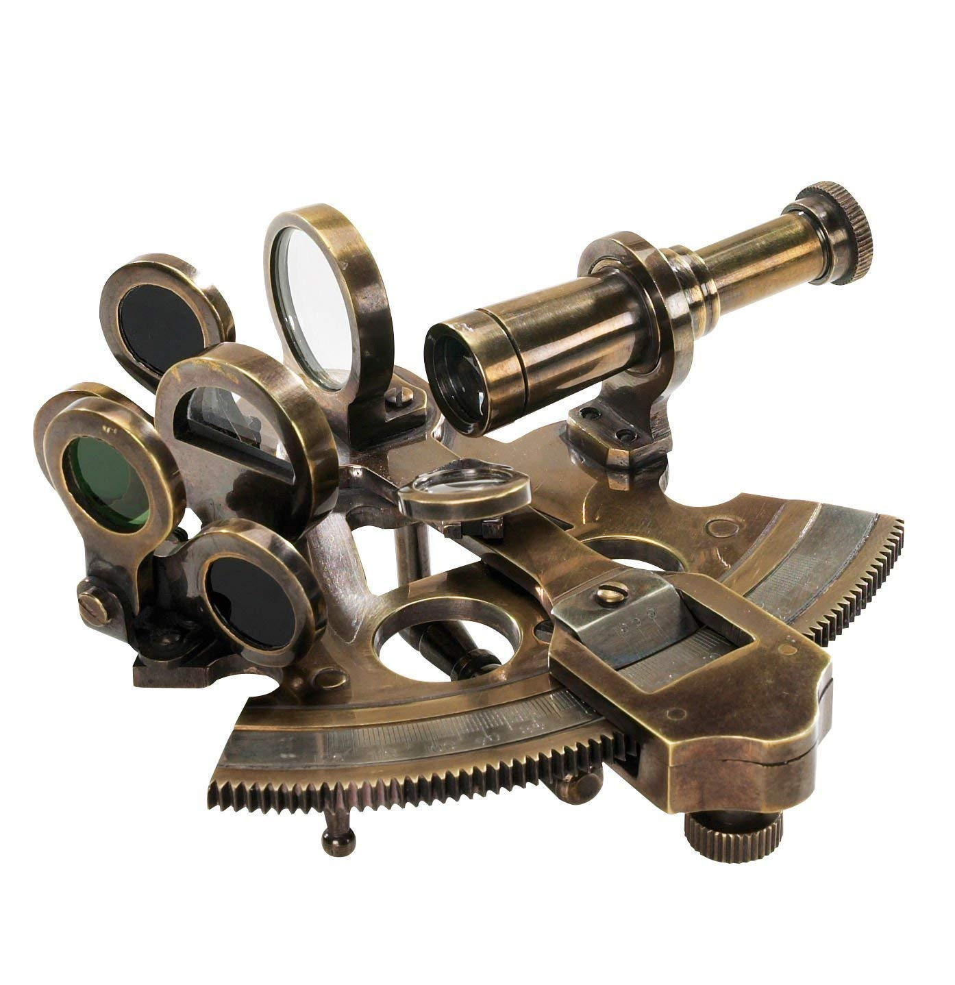 Surveryor's Small-Sextant 4.25 Antiqued Nautical NauticalMart by NAUTICALMART