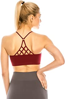 product image for Kurve Strappy Caged Back Bra Cami, UV Protective Fabric UPF 50+ (Made with Love in The USA)