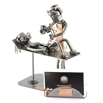 Steelman24 I Figurine En Mtal Sage Femme Avec Porte Cartes De Visite Made