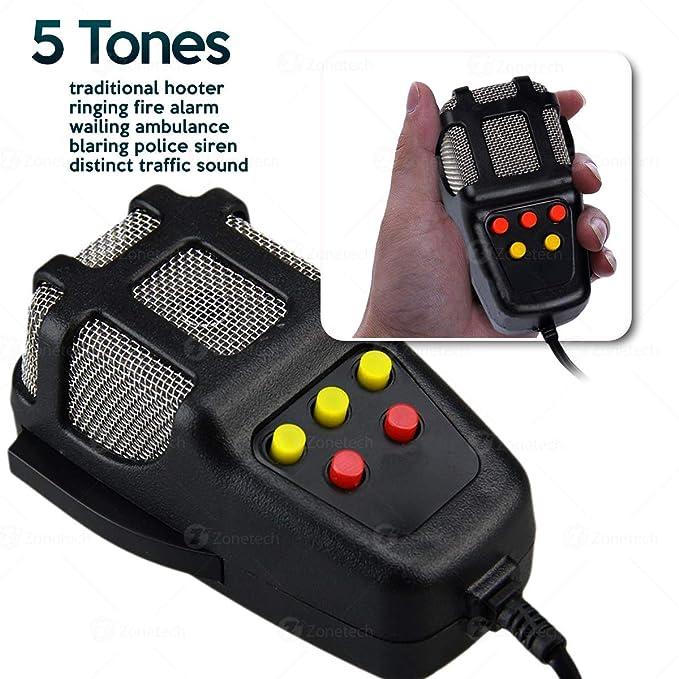 Amazon.com: Sirena para auto Zone Tech de 5tonos, con ...