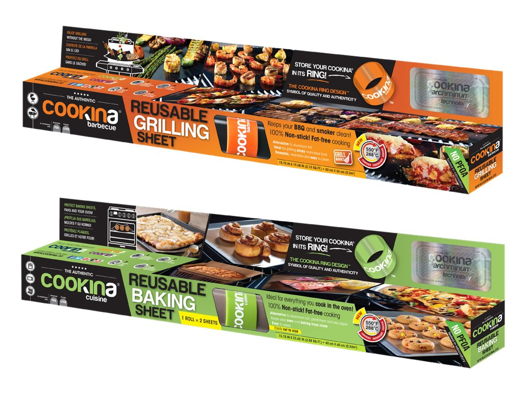 Cookina Barbecue & Cuisine Non-Stick Grilling and Cooking Sheet Combo Pack EC263665