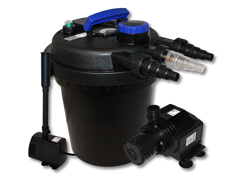 WilTec Kit de filtration à pression bio 6000l Stérilisateur UVC 11W Pompe de bassin Pompe de fontaine 54505