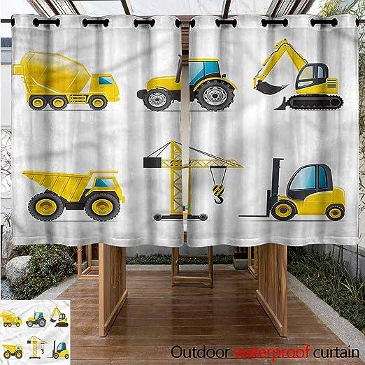 Sunnyhome Cortina de Puerta corredera para habitación de niños, Cortinas de Transporte para Sala de Estar: Amazon.es: Jardín