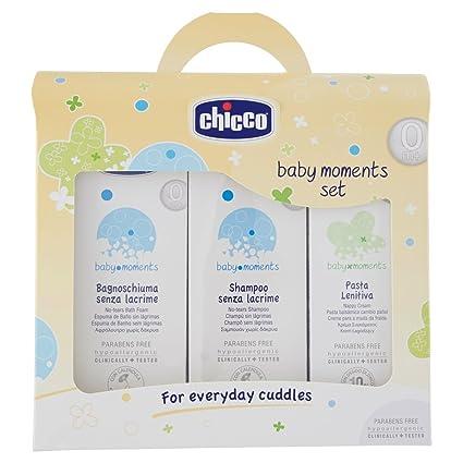 Set Bagno Neonato Chicco.Chicco 3207 Cofanetto Bagnoschiuma E Shampoo Senza Lacrime Pasta Lenitiva