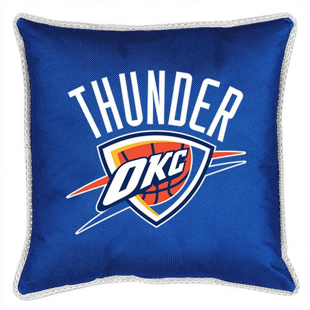 Okc Thunder Bedroom Decor Amazoncom Nba Oklahoma City Thunder Sidelines Toss Pillow 17 X