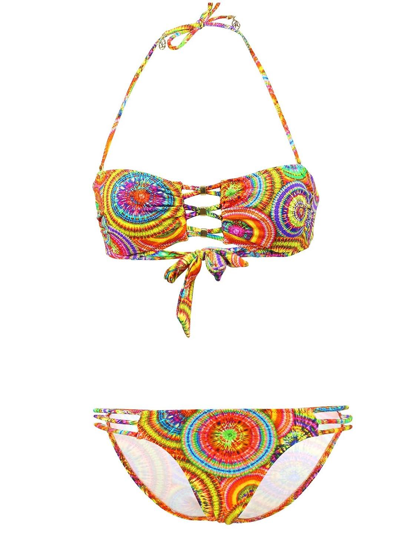 Badeanzug 2 Teile Bandeau Lolita Angels Rio Sunny Charme Bunt