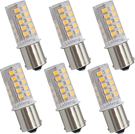 Amazon.com: Bombilla LED de 12 V BA15S, 3 W, 300 lm, 2700 K ...