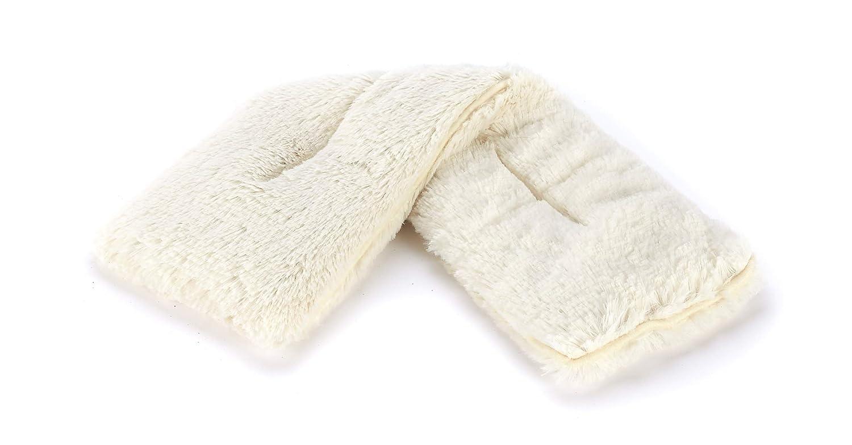 Warmies Cozy Body Faux Fur Lavender Scented Microwavable Neck Wrap - Cream
