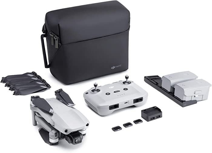 "NEW DJI Mavic Air 2 Fly More Combo - Drone Quadcopter UAV with 48MP Camera 4K Video 1/2"" CMOS Sensor 3-Axis Gimbal 34min Flight Time ActiveTrack 3.0, Grey"