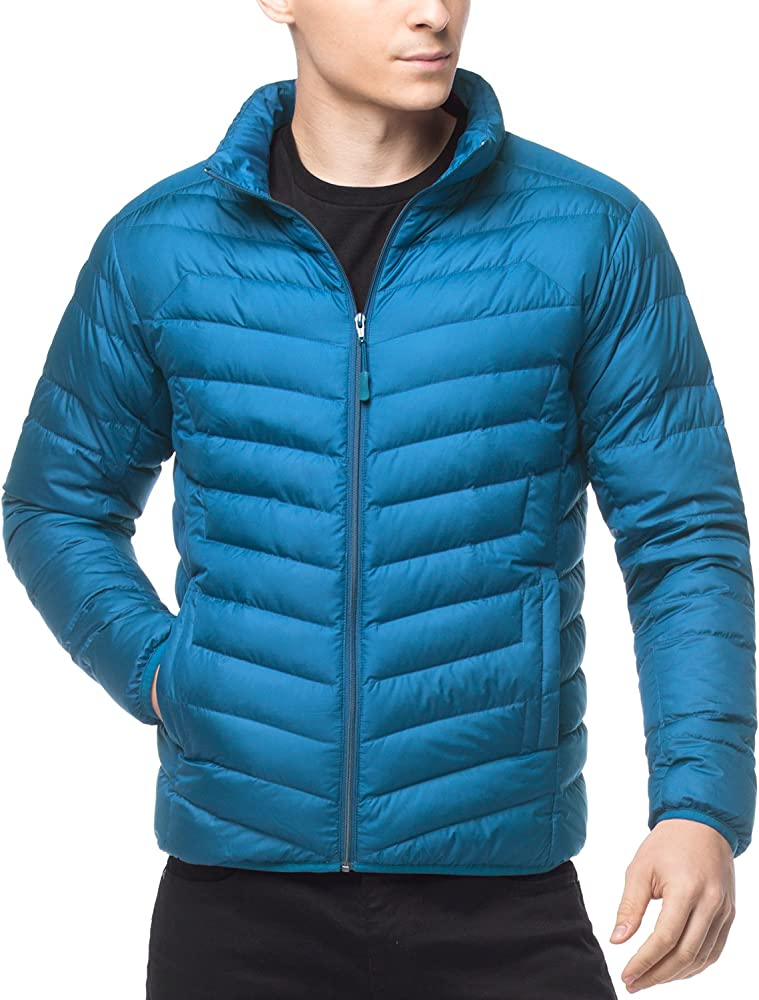 e6bc3be9723 LAPASA Men's Water-Repellant Down Jacket (550 Feathers), Zipper + Interior  Pockets