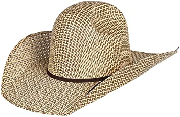 f7a52339d6 RODEO KING Mens Bamboo Open Crown 4 1 2 Brim Natural Straw Cowboy Hat