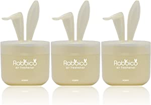 High Premium Quality RABBICO SWEET 3 Packs (Rabbit lovely ears shape) Car, Home, Office Air Freshener White Musk Scent - Beautiful mix of floral fruity musk fragrances
