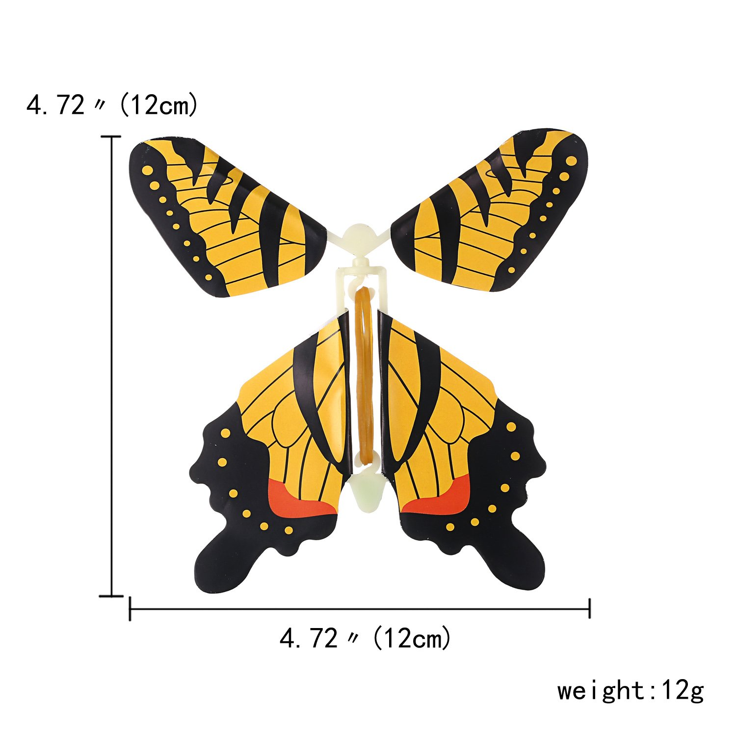 beemean Magic Flying Butterfly Gift Cards - Wind Up Butterfly in The Book Fairy Toy Great Surprise Wedding (50PCS) by beemean (Image #1)