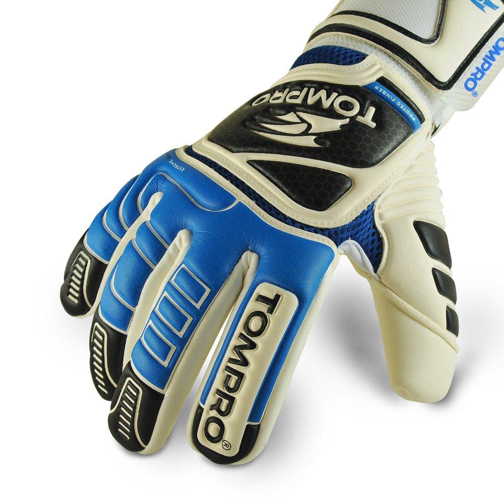 Tompro Extreme Grip Negativ Cut Torwart Torwart Handschuhe Royal Blau//Schwarz Gr/ö/ße 8