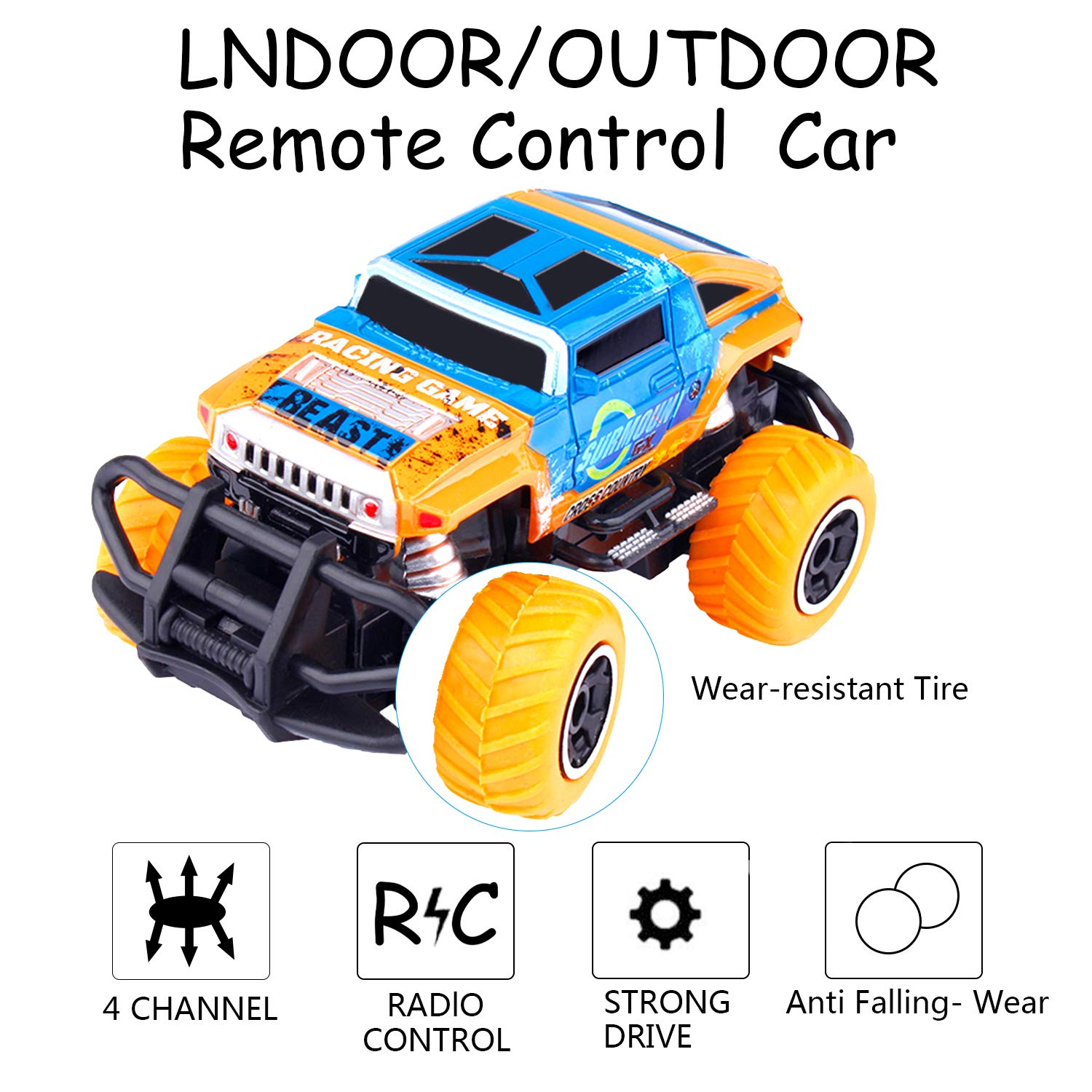 snailrun RC Off-Road Vehicle Remote Control Car for Kids Toys or Gifts