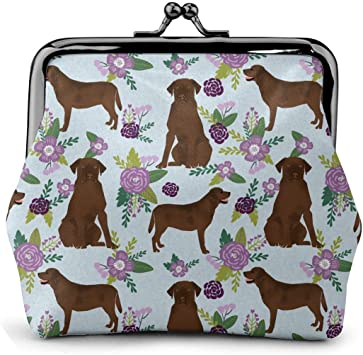 Retro Mother Of Boxer Dog Puppy Key Buckle Coin Purse For Womens