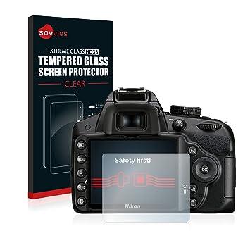 Savvies Protector Cristal Templado para Nikon D3200 Protector Pantalla Vidrio: Amazon.es: Electrónica