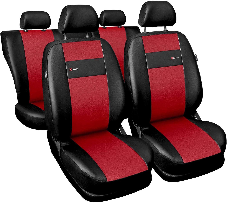 Universal Set Kunstleder Grau Sitzbez/üge Sitzbezug f/ür Auto Sitzschoner Set Schonbez/üge Autositz Autositzbez/üge Sitzauflagen Sitzschutz PKW X-Line Saferide