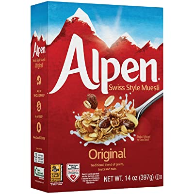 Alpen Cereal, Original, 14 Ounce (Pack of 6) : Cold Breakfast Cereals : Grocery & Gourmet Food