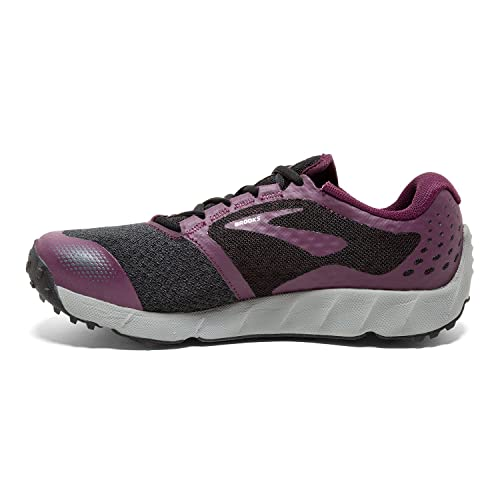 397ef59dbef17 Brooks Women s PureGrit 7 Black Purple Grey 7.5 B US  Amazon.in  Shoes    Handbags