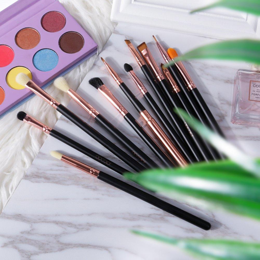 Augen Make Up Pinselset 12 Stück Docolor Lidschatten Kosmetik