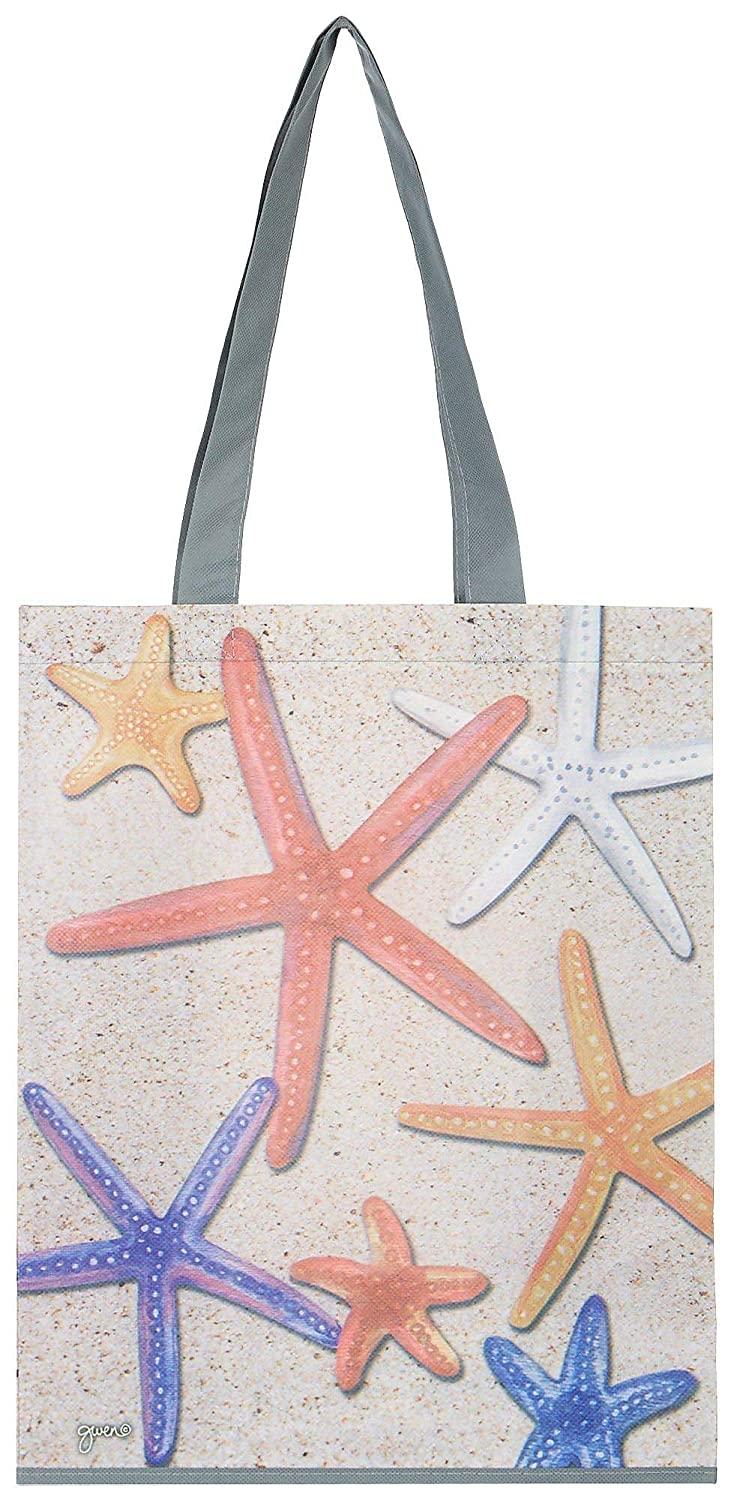 Gwens Nest Starfish Shopping Bag Beige//red//purple//white