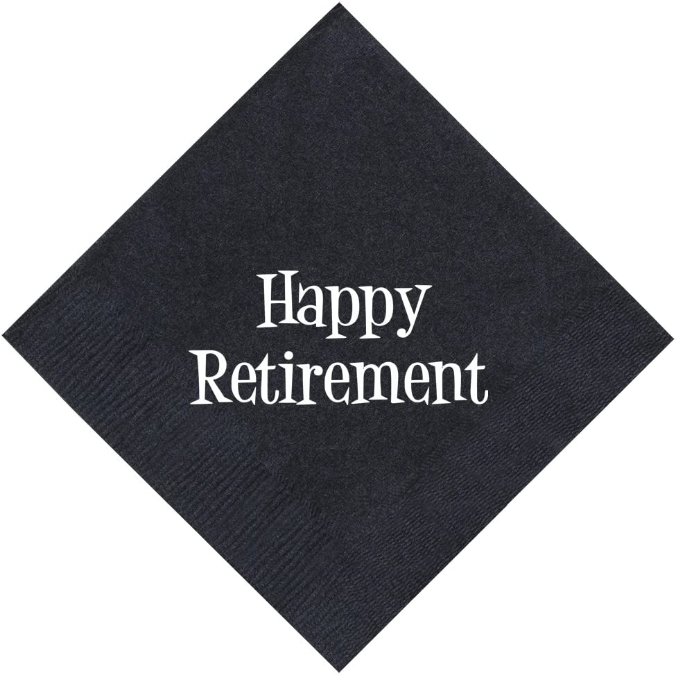 Retirement Decorations Happy Retirement Party Napkins Funny Retirement Gifts for Women or Men 50 Pack 5x5