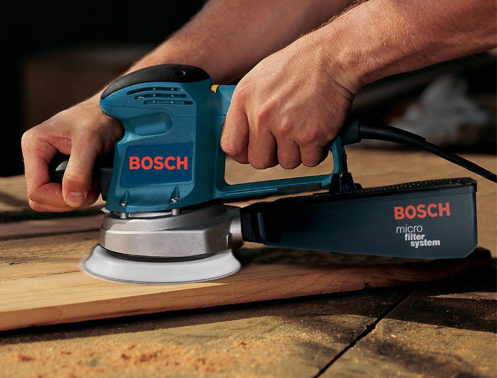 Bosch 3727DEVS 3.3 Amp 6-Inch Hook-and-Loop Random-Orbit Variable-Speed Sander/Polisher with Dust Canister by Bosch