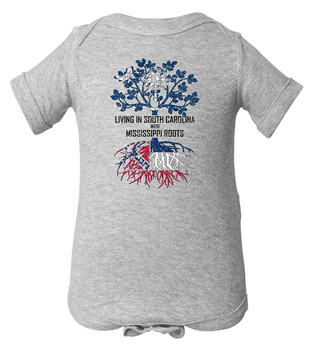 Tenacitee Babys Living in South Carolina with Mississippi Roots Shirt