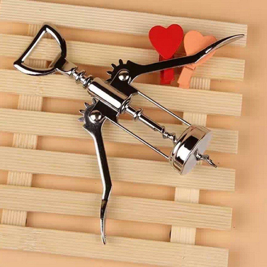 Stainless Steel Bottle Opener Waiter Metal Wine Corkscrew Bottle Handle Opener Corkscrews