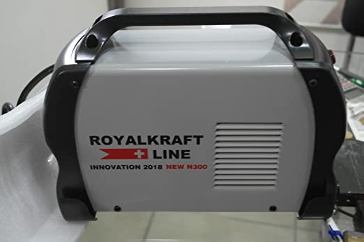 ROYALKRAF LINE 300 AMPERE royalkraf Line 300 Amperios Soldador Inverter con Cables 3 + 2 MT. Electrodo Profesional 300 A: Amazon.es: Hogar