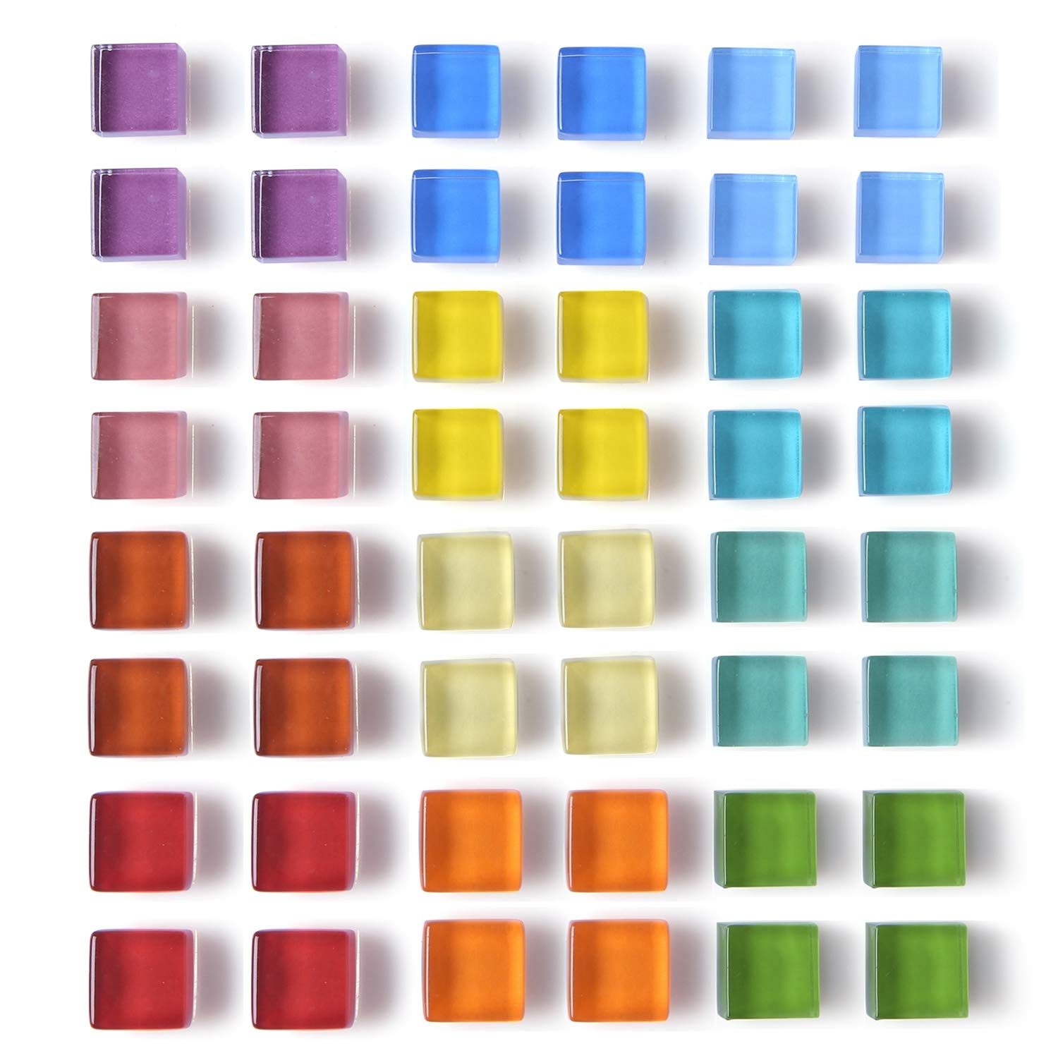 48 Pack Glass Refrigerator Magnets for Fridge Cute Magnets Color Decorative Magnets for Office Locker Magnets for Whiteboard