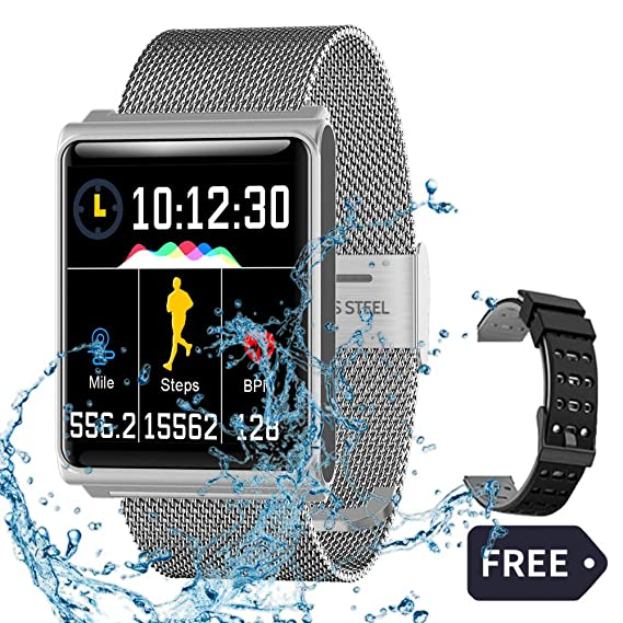 Fitness Watch for Android & iOS Phones, 1.3inch IPS HD Touch Screen with Optical