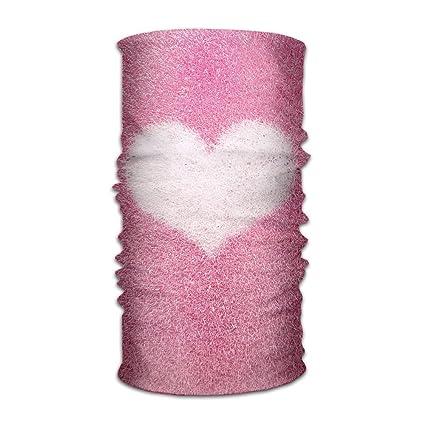 Amazon.com: Amor Corazón Flannel Diadema Máscara Multiuso ...