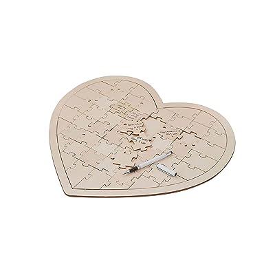 Boho - Wooden Jigsaw Guestbook Alternative: Juguetes y juegos