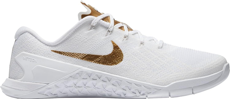 Nike Womens Metcon 3 Training Shoes B07458WMS4 11 B(M) US|White/Gold-m